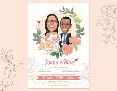 Caricature & Wedding Invitation