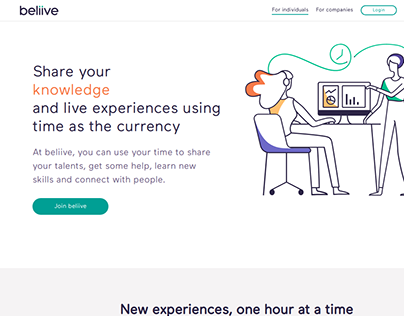 Beliive's Welcome Page