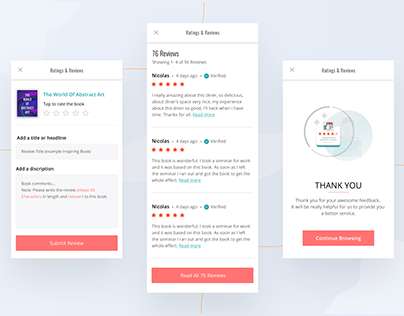 Review & Rating Screens