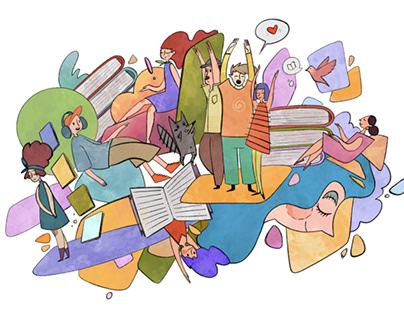 Illustration for 26 Book Forum