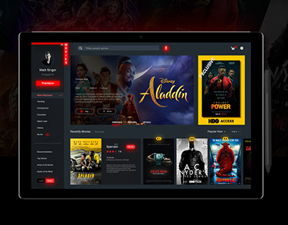"""Movies"" Streaming movies service UI Design"