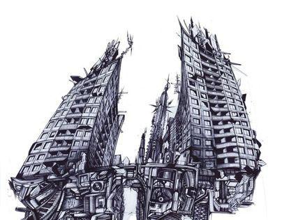 Graffiti architecture sketches