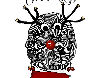 Christmas Outline/ Digital Art