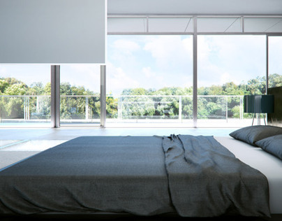 bedroom with walk-in wardrobe