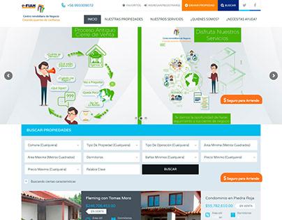 Diseño y Desarrollo Web Inmobiliaria cinck.cl