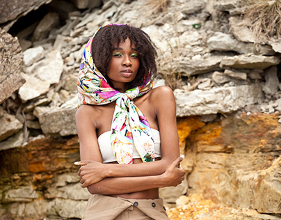 """Ad campaign for """"VERVE"""" silk scarves collection SS2020"""