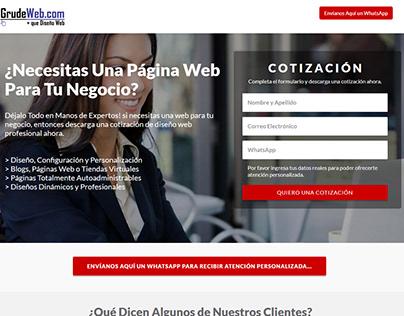 Squeeze Page Diseño Web V2 - Todo el mundo