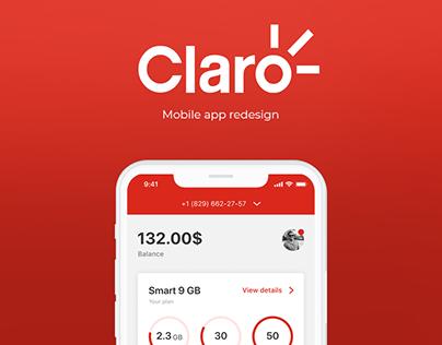 Claro   Mobile app redesign