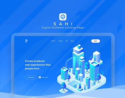 SAHI Product Analytics Landing Page