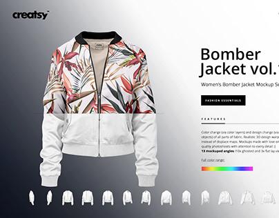 Women's Bomber Jacket Mockup Set v.1 Women's Bomber Ja