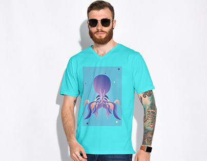 "Modern and minimalistic illustration ""Octopus"""