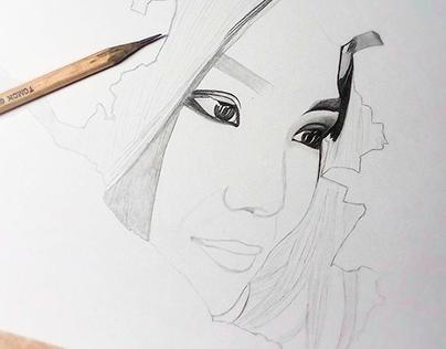 Kalmykia in me - pencil drawing