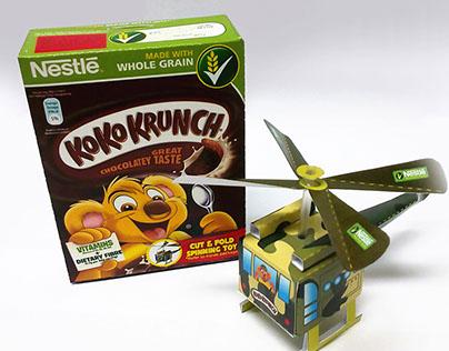 Transformable Packaging for Nestle Koko Krunch Cereal