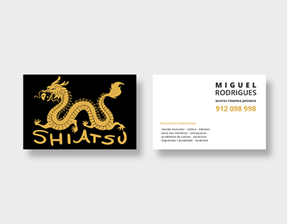 Shiatsu - visiting card (2 versions)