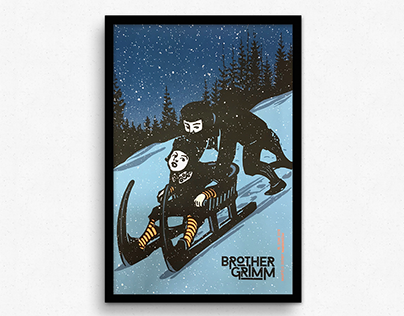 Brother Grimm Screenprinted Gigposter