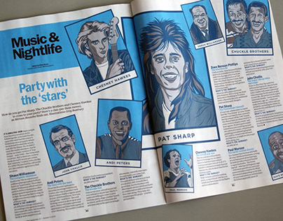 TimeOut Magazine Feature Illustration - UK Celebrities