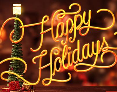 Happy Holidays   Cartão da firma