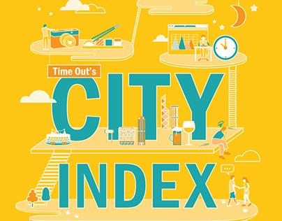 """City index"" - illustration for Time Out HK"