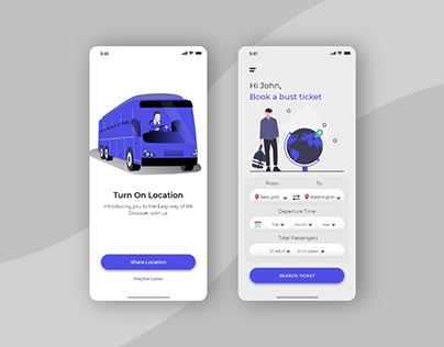 Transport Online Ticket App UI