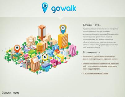 Gowalk - geosocial network