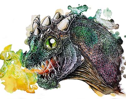 Hand-drawn baby Dragon