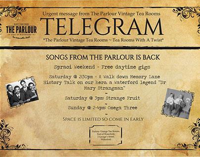 Urgent Telegram Vintage Poster Design