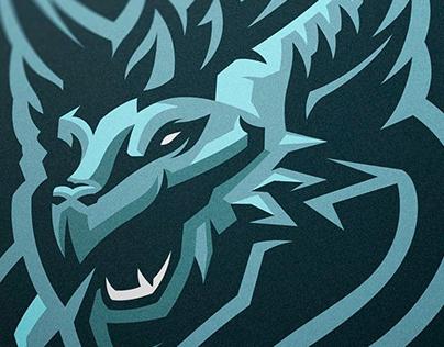 ICE DRAGON - Mascot logo | FOR SALE