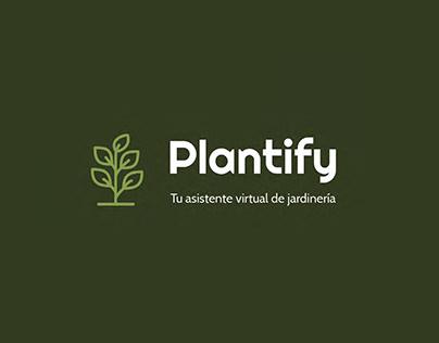 PLANTIFY · Diseño de aplicación y landing page