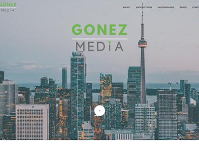 WordPress website for Gonez Media