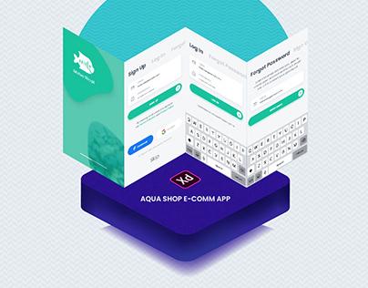 Motso Shopi E-comm APP UI Adobe XD