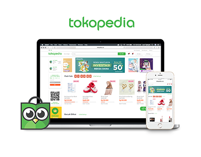 Tokopedia homepage redesign (personal project) ,2019