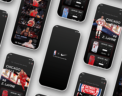【UI/ Mobile】NBA Jersey Store