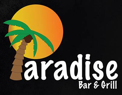 Paradise Bar and Grill Logo and Menu
