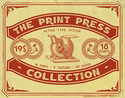 The Print Press Collection - Font Bundle