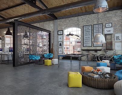 OFFICE DESIGN - Loft IT office interior design