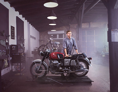 Moto Guzzi Test Shoot - Motorcycle / Portrait Series