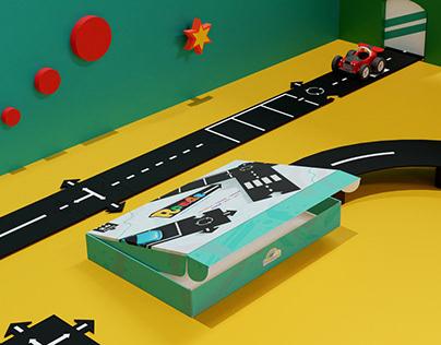 Roads   packaging _ 3DAnimation