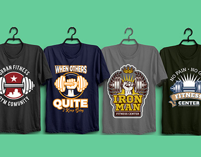 Fitness T shirt Design Projects