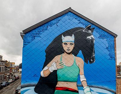 Mural en hommage au dessinateur français Enki Bilal.
