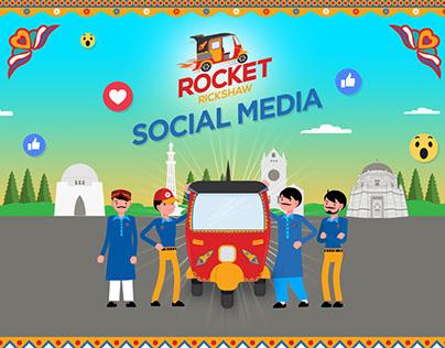Rocket Rickshaw Social Media