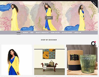 Uru The Store E-commerce Website Layout