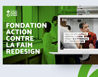 Website redesign for Action against Hunger Foundation