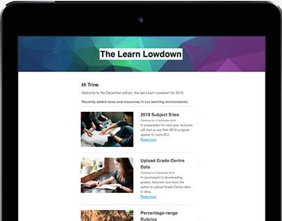 The Learn Lowdown