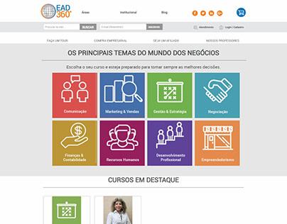 Escola de cursos virtuais de negócios em Magento