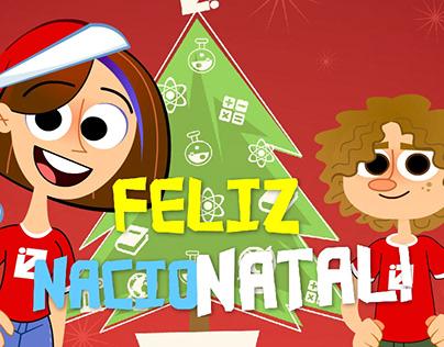 Cartão de Natal - Colégio nacional --- Christmas Card