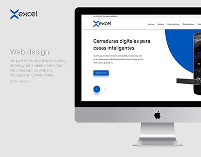 Web design for Excel Mexico
