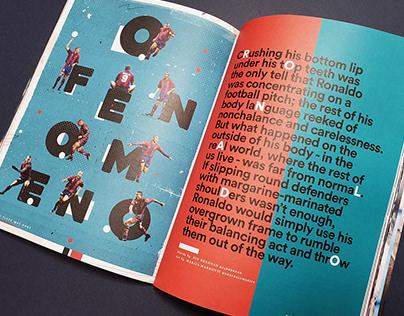 Illustration For NPLH Football Magazine - Ronaldo