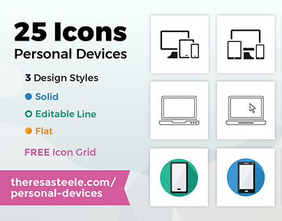 Personal Devices Icon Set