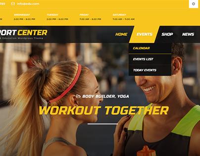 Sport Center - Multipurpose Event Wordpress Theme