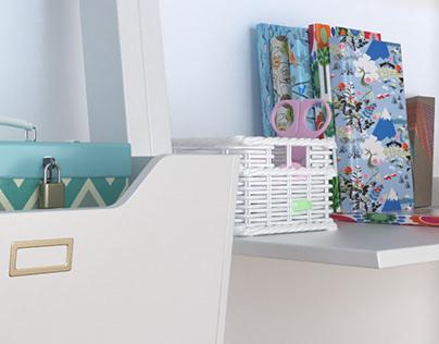 Child Room Detail Visualization